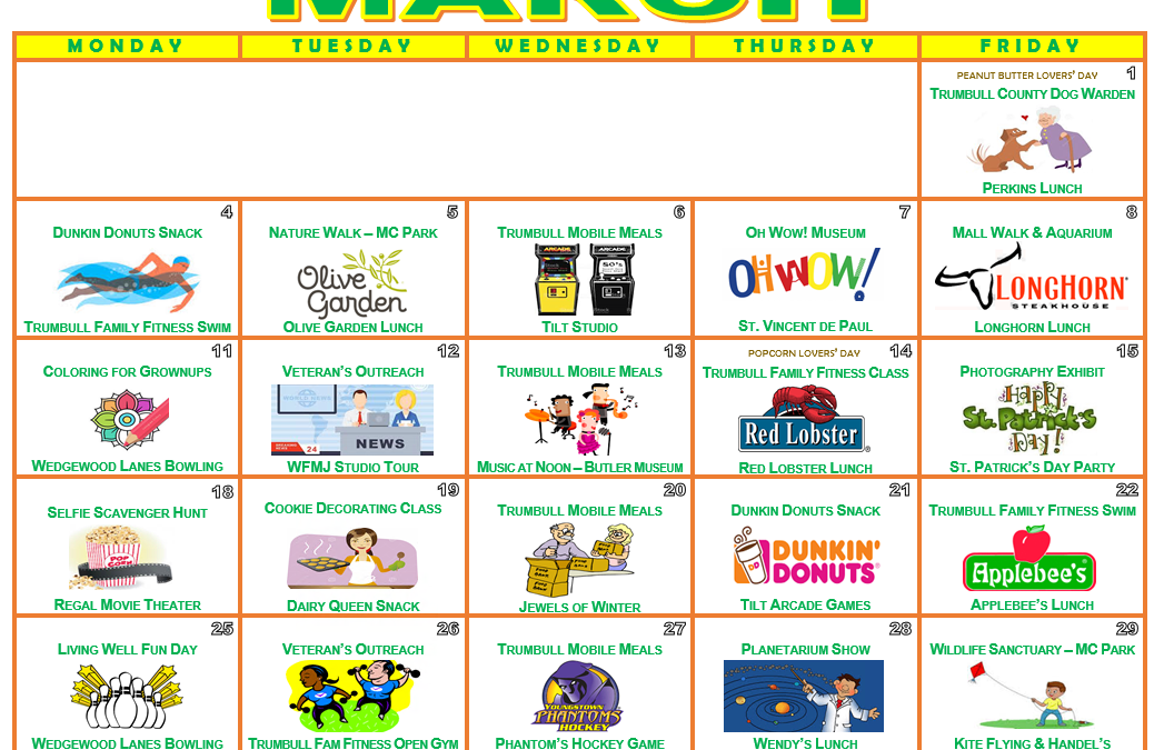 March 2019 Galleria Activity Calendar
